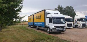 camião com lona deslizante MERCEDES-BENZ Atego 1529 novo + reboque com cortina lateral