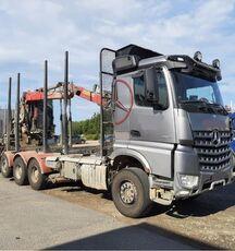 camião de transporte de madeira MERCEDES-BENZ 3263 8x4, big axles, no crane