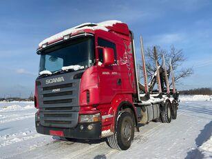 camião de transporte de madeira SCANIA R-420