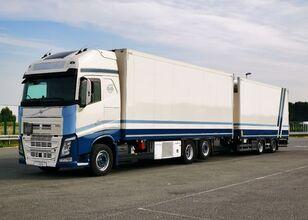 camião frigorífico VOLVO Tandem chłodnia thermo king dopelstock 2013 schmitz + reboque frigorífico