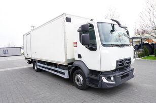 camião isotérmico RENAULT D12 , E6 , 4x2 , Box 18 EPAL side door  , tail lift Dhollandia