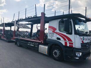 camião porta-automóveis MERCEDES-BENZ Actros 1840 Euro 6 + Lohr CHR + reboque porta carros