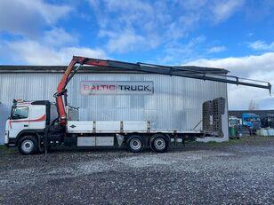 camião porta-automóveis VOLVO FM400, 6x2 + CRANE + HYDRAULIC RAMPS