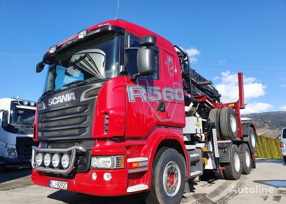 camião tractor SCANIA R560 + semi-reboque de transporte de madeira