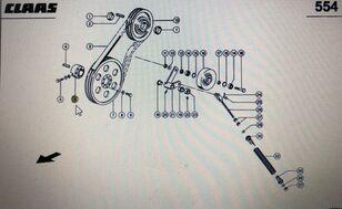 cubo de roda CLAAS zaciskająca (00 0667 426 0) para ceifeira-debulhadora CLAAS Lexion 580 670 750